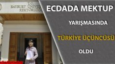 Esma Özdemir, Ecdada Mektup Yarışması'nda Türkiye 3.sü Oldu