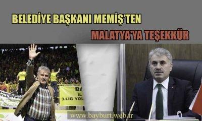 Belediye Başkanı Memiş'ten Malatya'ya Teşekkür