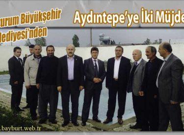 Erzurum Büyükşehir Belediyesinden Aydıntepe'ye İki Müjde