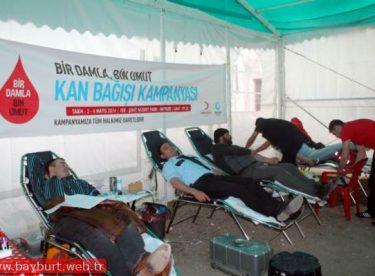 """""""Bir Damla, Bin Umut"""" Kan Bağış Kampanyasına Yoğun İlgi"""