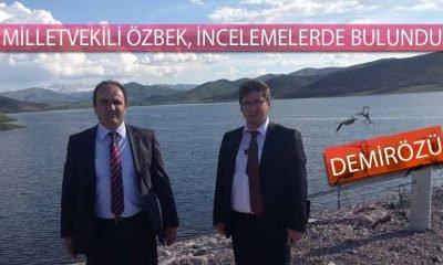 Milletvekili Özbek, Demirözü Barajında İncelemelerde Bulundu