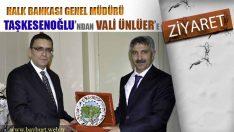 Halk Bankası Genel Müdüründen, Vali Ünlüer'e Ziyaret