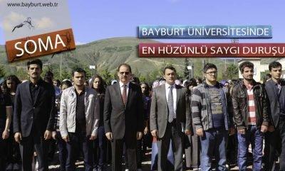 Bayburt Üniversitesinde En Hüzünlü Saygı Duruşu