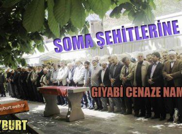 Bayburt'ta Soma Şehitlerine Gıyabi Cenaze Namazı