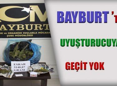 Bayburt'ta Uyuşturucu Maddeye Geçit Yok