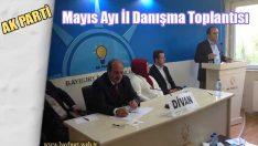 Ak Parti Mayıs Ayı İl Danışma Toplantısı Yapıldı