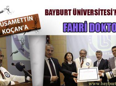 Bayburt Üniversitesi'nden Hüsamettin Koçan'a Fahri Doktora