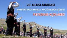 20. Uluslararası Bayburt Dede Korkut Şenlikleri Programı