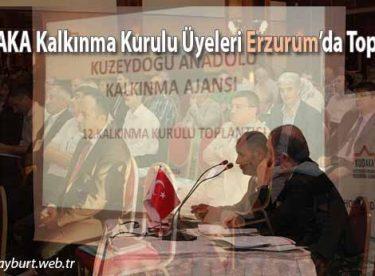 KUDAKA Kalkınma Kurulu Üyeleri Erzurum'da Toplandı