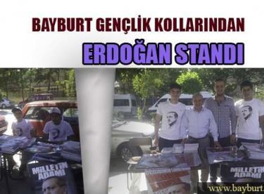 Bayburt Gençlik Kollarından Erdoğan Standı