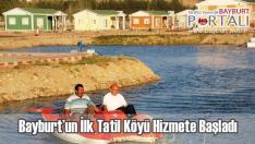 Bayburt'un İlk Tatil Köyü Hizmete Başladı