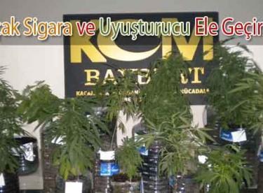 Bayburt'ta Kaçak Sigara Ve Uyuşturucu Ele Geçirildi