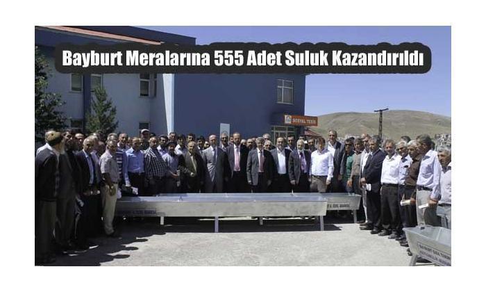 Bayburt Meralarına 555 Adet Suluk Kazandırıldı