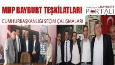 MHP Bayburt Teşkilatlarının Seçim Çalışmaları Devam Ediyor