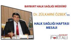 Özbek'ten Halk Sağlığı Haftası Mesajı