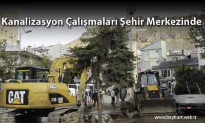 Kanalizasyon Çalışmaları Şehir Merkezinde