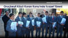 Oruçbeyli Köyü Kuran Kursu'nda İcazet Töreni Yapıldı