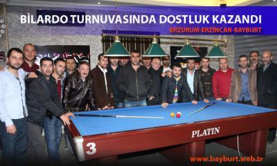 Bilardo Turnuvasında Dostluk Kazandı