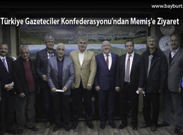 Türkiye Gazeteciler Konfederasyonu'ndan Memiş'e Ziyaret