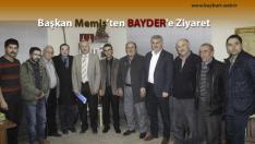 Başkan Memiş, BAYDER'i Ziyaret Etti