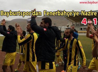 Bayburtspor'dan Fenerbahçe'ye Nazire