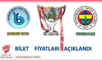 Bayburtspor – Fenerbahçe Maçının Bilet Fiyatları Belirlendi