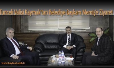 Tunceli Valisi Kaymak'tan Belediye Başkanı Memiş'e Ziyaret