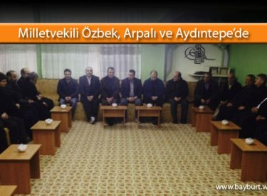 Milletvekili Özbek, Arpalı ve Aydıntepe'de