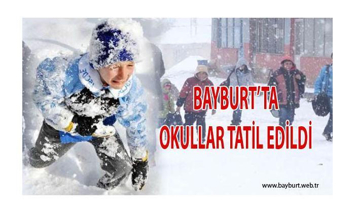 Bayburt'ta eğitime kar engeli
