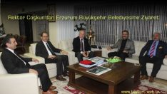 Rektör Coşkun'dan Erzurum Büyükşehir Belediyesi'ne Ziyaret