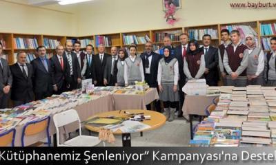 """""""Kütüphanemiz Şenleniyor"""" Kampanyası'na Destek"""