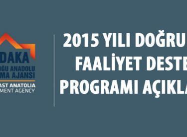 Kudaka 2015 Doğrudan Faaliyet Desteği Programı Açıklandı
