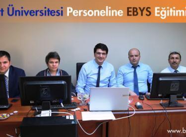 Bayburt Üniversitesi Personeline EBYS Eğitimi verildi