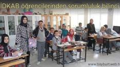 İDKAB öğrencilerinden sorumluluk bilinci
