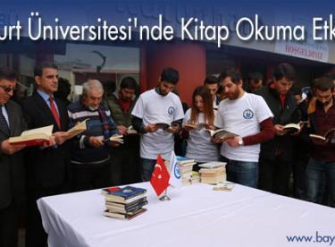 Bayburt Üniversitesi'nde Kitap Okuma Etkinliği
