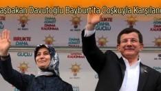 Başbakan Davutoğlu Bayburt'ta Coşkuyla Karşılandı
