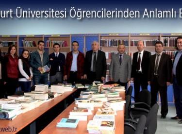 Bayburt Üniversitesi Öğrencilerinden Anlamlı Bağış