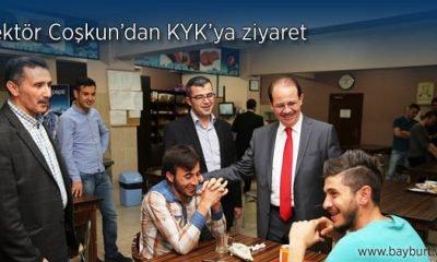 Rektör Coşkun KYK yurt müdürlüğünde ziyarette bulundu