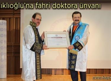 Rıfat Hisarcıklıoğlu'na fahri doktora ünvanı verildi