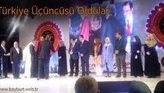Bayburt Anadolu İmam Hatip Lisesi Türkiye Üçüncüsü Oldu