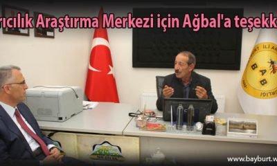 Arıcılık Araştırma Merkezi için Ağbal'a teşekkür