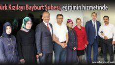 Türk Kızılayı Bayburt Şubesi, eğitimin hizmetinde