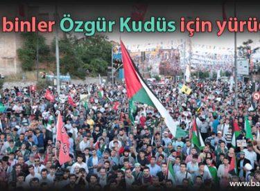 On binler Özgür Kudüs için yürüdü