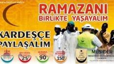 """""""Ramazanı birlikte, kardeşçe yaşayalım"""" yardım kampanyası"""
