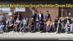 Bayburt Belediyesi'nin Sosyal Yardımları Devam Ediyor