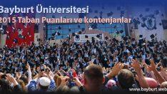 Bayburt Üniversitesi 2015 Taban Puanları ve kontenjanlar