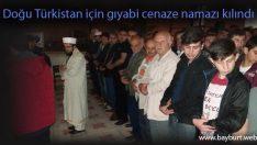 Doğu Türkistan için gıyabi cenaze namazı kılındı