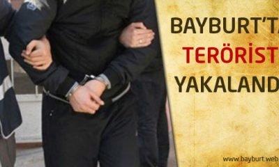Bayburt'ta terörist yakalandı