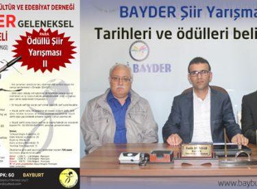 BAYDER Şiir Yarışması tarihleri ve ödülleri belirlendi