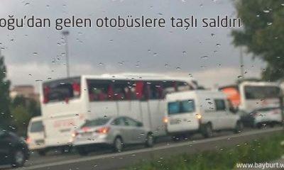 Doğu'dan gelen otobüslere taşlı saldırı